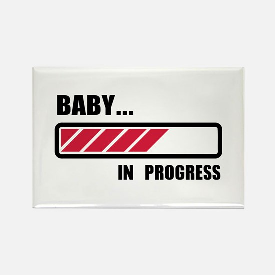 Baby in progress loading Rectangle Magnet