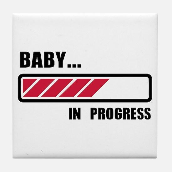 Baby in progress loading Tile Coaster