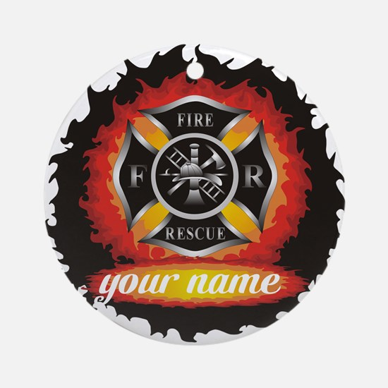 Personalized Fire and Rescue Ornament (Round)
