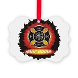 Firefighter Picture Frame Ornaments