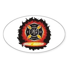 Personalized Fire and Rescue Decal