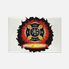 Personalized Fire and Rescue Rectangle Magnet