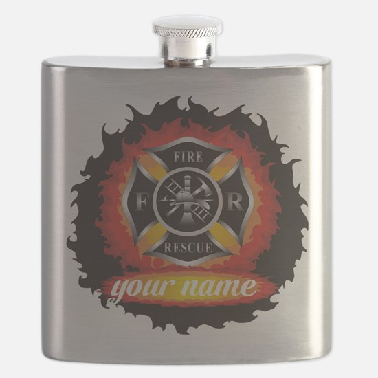 Personalized Fire and Rescue Flask