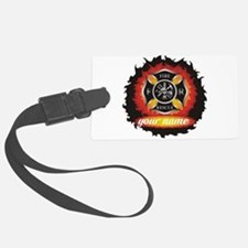 Personalized Fire and Rescue Luggage Tag