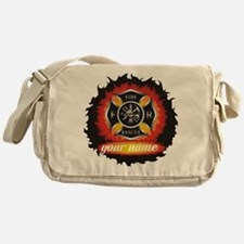Personalized Fire and Rescue Messenger Bag