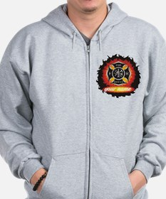 Personalized Fire and Rescue Zip Hoodie