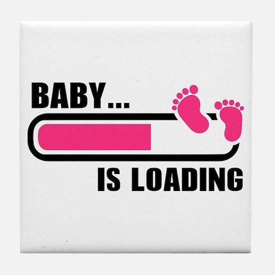 Baby loading bar Tile Coaster
