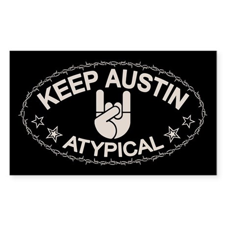 Keep Austin Atypical Sticker (Rectangle)