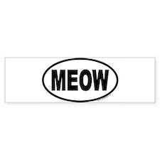 meow Bumper Bumper Sticker