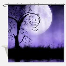 Enchanted-Silhouette-Tree-Purple Shower Curtain