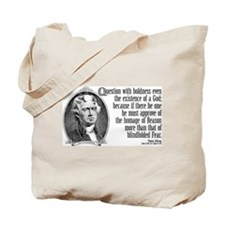 Thomas Jefferson on God Tote Bag