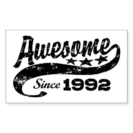 Awesome Since 1992 Sticker (Rectangle)