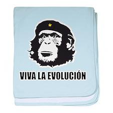 Viva La Evolucion Design baby blanket
