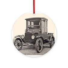 Antique Auto Car Photograph Ornament (Round)