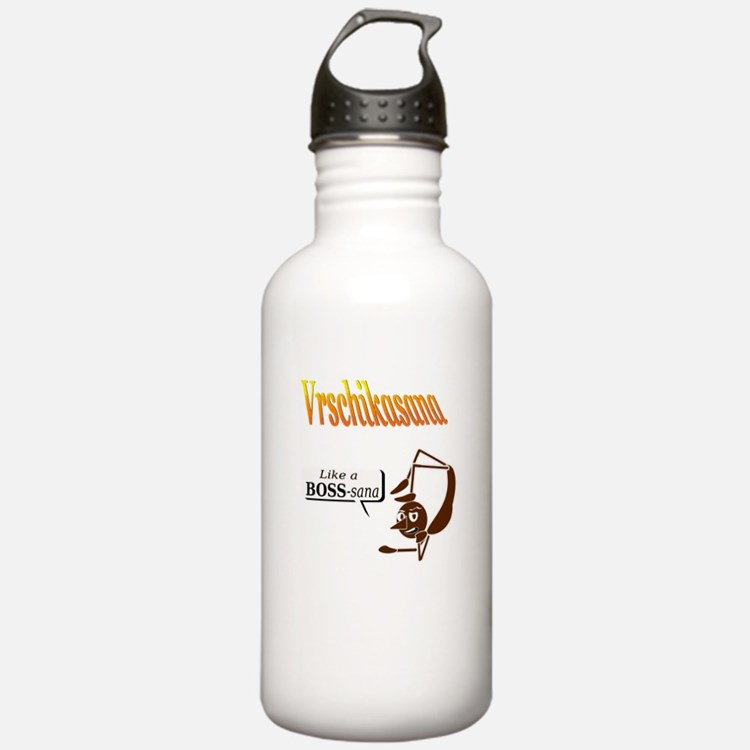 Vrschikasana - Like a Boss -sana Water Bottle