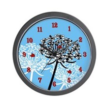 Skull Queen Anne's Lace Wall Clock