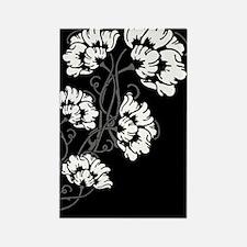Art Noveau Flower Heart Rectangle Magnet