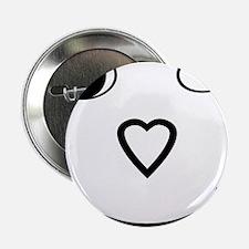 "I Heart Jesus Face 2.25"" Button"