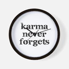 Karma Never Forgets Wall Clock