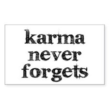 Karma Never Forgets Decal