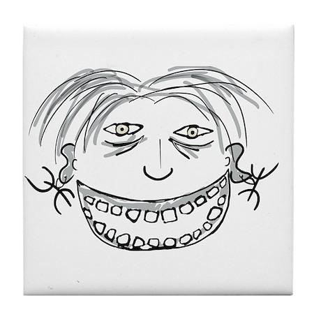 Kanaga Smiley Tile Coaster