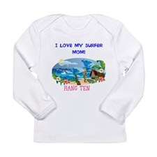 Long Sleeve Infant T-Shirt SURFER MOM