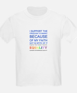 Quaker Marriage Equality Cross Stitch T-Shirt