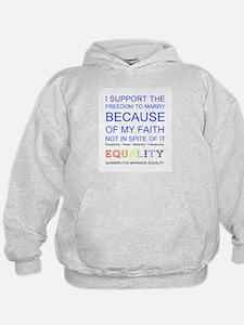 Quaker Marriage Equality Cross Stitch Hoodie