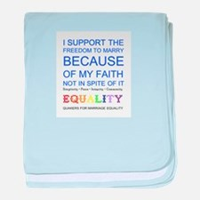 Quaker Marriage Equality Cross Stitch baby blanket