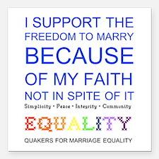 Quaker Marriage Equality Cross Stitch Square Car M