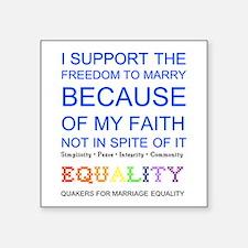 Quaker Marriage Equality Cross Stitch Square Stick