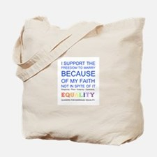 Quaker Marriage Equality Cross Stitch Tote Bag