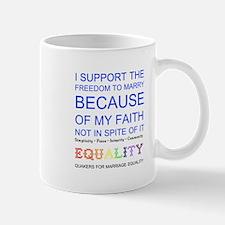 Quaker Marriage Equality Cross Stitch Mug