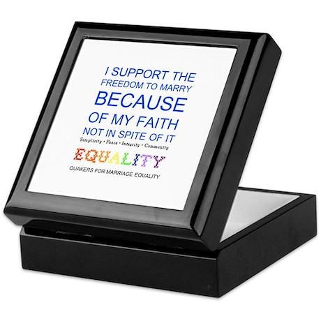 Quaker Marriage Equality Cross Stitch Keepsake Box