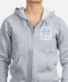 Quaker Marriage Equality Cross Stitch Zip Hoodie