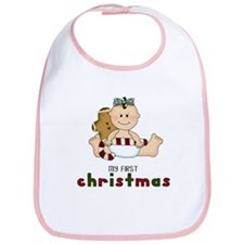 My First Christmas (Girl 1) Bib