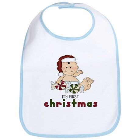 First Christmas (Boy 1) Bib