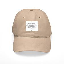With God Baseball Cap