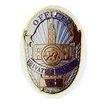 Private Security Officer Ornament (Oval)