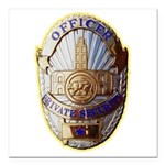 Private Security Officer Square Car Magnet 3