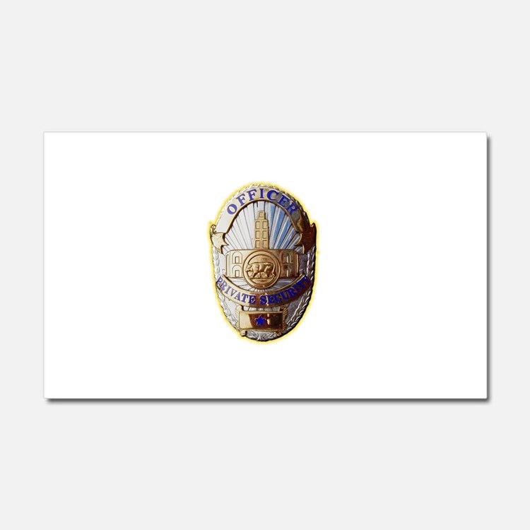 Private Security Officer Car Magnet 20 x 12