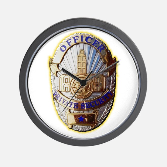 Private Security Officer Wall Clock