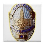 Private Security Officer Tile Coaster