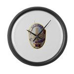 Private Security Officer Large Wall Clock