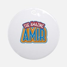 The Amazing Amir Ornament (Round)