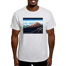 Thunderstorm Japanese Print A Ash Grey T-Shirt