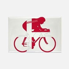 Danish Cycling Rectangle Magnet