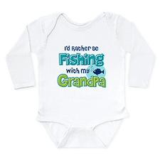 Rather Be Fishing Grandpa Long Sleeve Infant Bodys