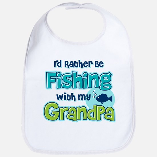 Rather Be Fishing Grandpa Bib