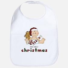 First Christmas (Boy 3 Design) Bib
